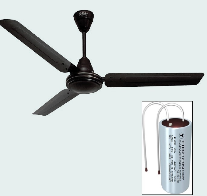 fan and capacitor